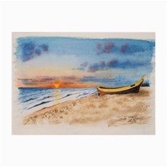 Sunset Beach Watercolor Canvas 24  X 36  (unframed)