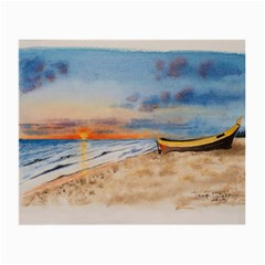 Sunset Beach Watercolor Glasses Cloth (small, Two Sided)