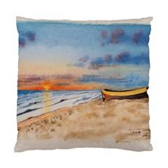 Sunset Beach Watercolor Cushion Case (single Sided)