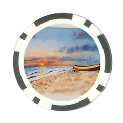 Sunset Beach Watercolor Poker Chip (10 Pack)