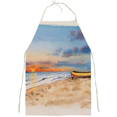 Sunset Beach Watercolor Apron