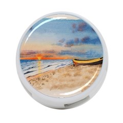 Sunset Beach Watercolor 4-Port USB Hub (Two Sides)