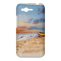 Sunset Beach Watercolor HTC Rhyme Hardshell Case