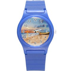 Sunset Beach Watercolor Plastic Sport Watch (Small)