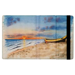 Sunset Beach Watercolor Apple iPad 3/4 Flip Case