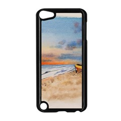 Sunset Beach Watercolor Apple iPod Touch 5 Case (Black)