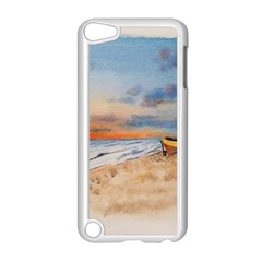 Sunset Beach Watercolor Apple iPod Touch 5 Case (White)