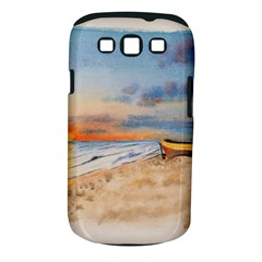 Sunset Beach Watercolor Samsung Galaxy S III Classic Hardshell Case (PC+Silicone)