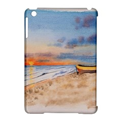Sunset Beach Watercolor Apple Ipad Mini Hardshell Case (compatible With Smart Cover)