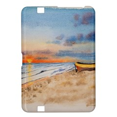 Sunset Beach Watercolor Kindle Fire HD 8.9  Hardshell Case