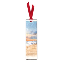 Sunset Beach Watercolor Small Bookmark