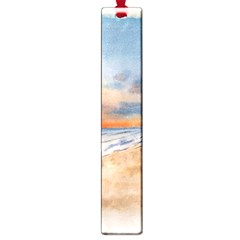 Sunset Beach Watercolor Large Bookmark