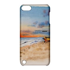 Sunset Beach Watercolor Apple Ipod Touch 5 Hardshell Case With Stand