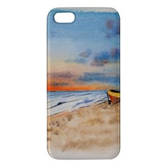 Sunset Beach Watercolor Apple Iphone 5 Premium Hardshell Case