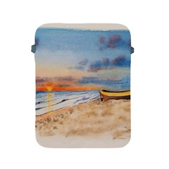 Sunset Beach Watercolor Apple iPad Protective Sleeve