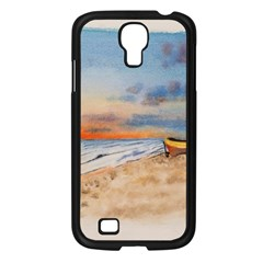 Sunset Beach Watercolor Samsung Galaxy S4 I9500/ I9505 Case (Black)
