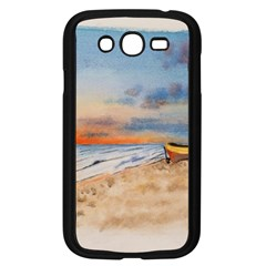 Sunset Beach Watercolor Samsung Galaxy Grand Duos I9082 Case (black)