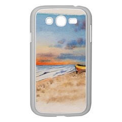 Sunset Beach Watercolor Samsung Galaxy Grand Duos I9082 Case (white)
