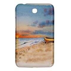 Sunset Beach Watercolor Samsung Galaxy Tab 3 (7 ) P3200 Hardshell Case
