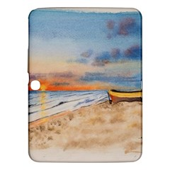Sunset Beach Watercolor Samsung Galaxy Tab 3 (10.1 ) P5200 Hardshell Case