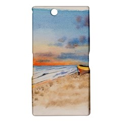 Sunset Beach Watercolor Sony Xperia Z Ultra (XL39H) Hardshell Case