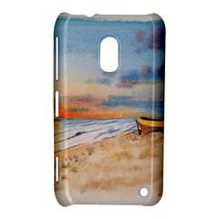 Sunset Beach Watercolor Nokia Lumia 620 Hardshell Case