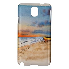 Sunset Beach Watercolor Samsung Galaxy Note 3 N9005 Hardshell Case