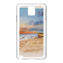 Sunset Beach Watercolor Samsung Galaxy Note 3 N9005 Case (White)