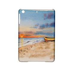 Sunset Beach Watercolor Apple iPad Mini 2 Hardshell Case