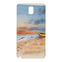Sunset Beach Watercolor Samsung Galaxy Note 3 N9005 Hardshell Back Case