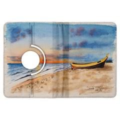 Sunset Beach Watercolor Kindle Fire HDX 7  Flip 360 Case