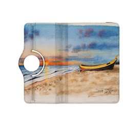 Sunset Beach Watercolor Kindle Fire HDX 8.9  Flip 360 Case