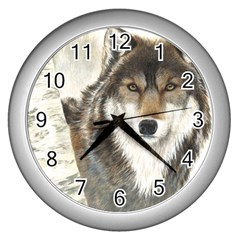Hunter Wall Clock (Silver)