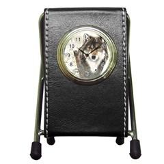 Hunter Stationery Holder Clock
