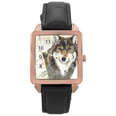 Hunter Rose Gold Leather Watch