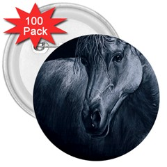 Equine Grace  3  Button (100 Pack)