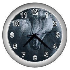 Equine Grace  Wall Clock (Silver)