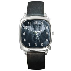 Equine Grace  Square Leather Watch