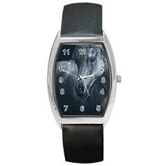 Equine Grace  Tonneau Leather Watch