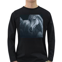Equine Grace  Men s Long Sleeve T-shirt (Dark Colored)