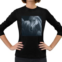 Equine Grace  Women s Long Sleeve T Shirt (dark Colored)