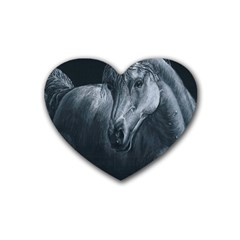 Equine Grace  Drink Coasters 4 Pack (heart)