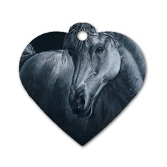 Equine Grace  Dog Tag Heart (One Sided)