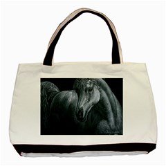 Equine Grace  Twin-sided Black Tote Bag