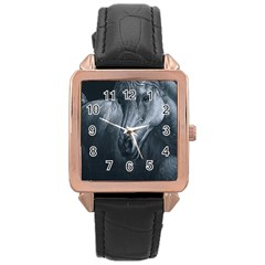 Equine Grace  Rose Gold Leather Watch