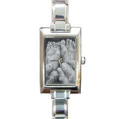 John 3:16 Rectangular Italian Charm Watch
