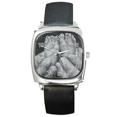 John 3:16 Square Leather Watch