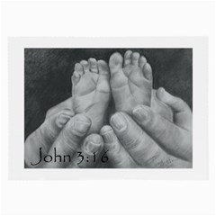 John 3:16 Glasses Cloth (Large, Two Sided)