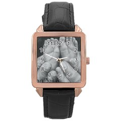 John 3:16 Rose Gold Leather Watch