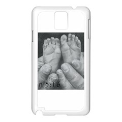 John 3:16 Samsung Galaxy Note 3 N9005 Case (White)